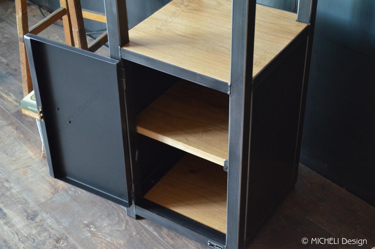Meuble D Entrée Industriel petit meuble d'entrée de style industriel 1 porte