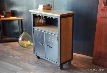 Meuble De Cuisine Ilot Bar Sur Mesure Fabrication Artisanale