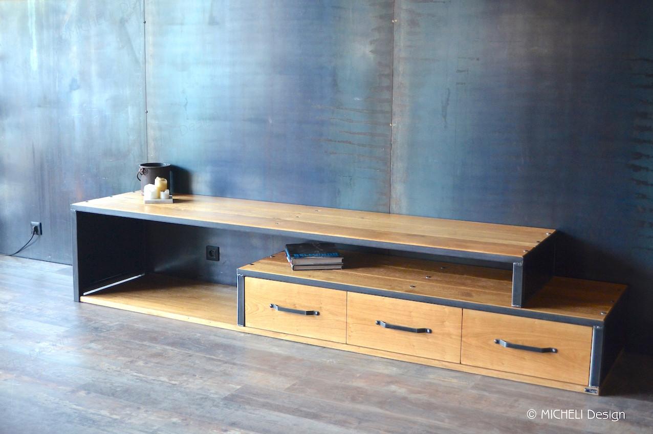 Faire Meuble Sur Mesure meuble tv extensible et pivotant sur mesure admète