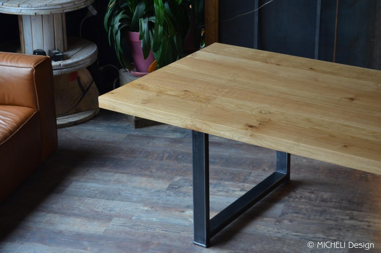 Table A Manger En Bois Et Metal Noir 12 Personnes Phaenna