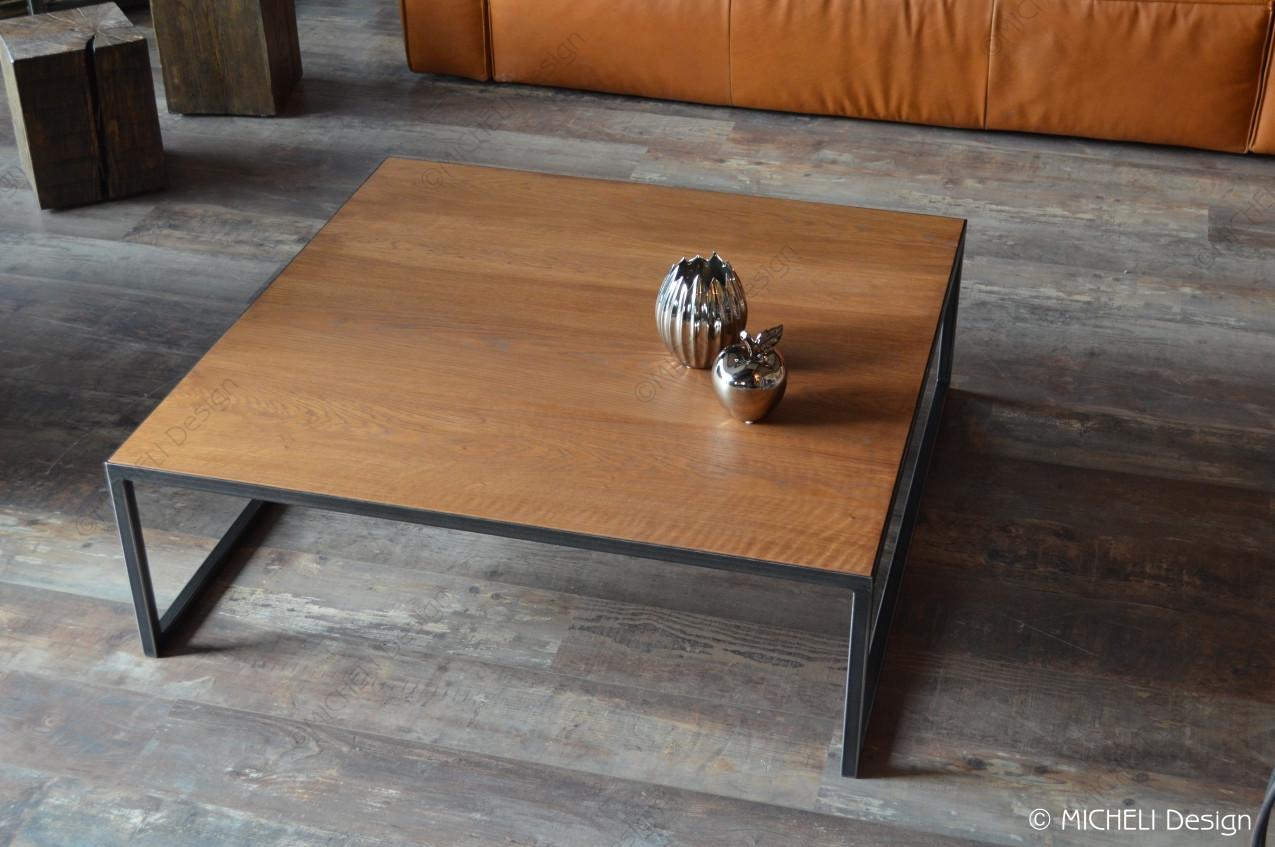 Table Basse Contemporaine Carree Sur Mesure Bebryce