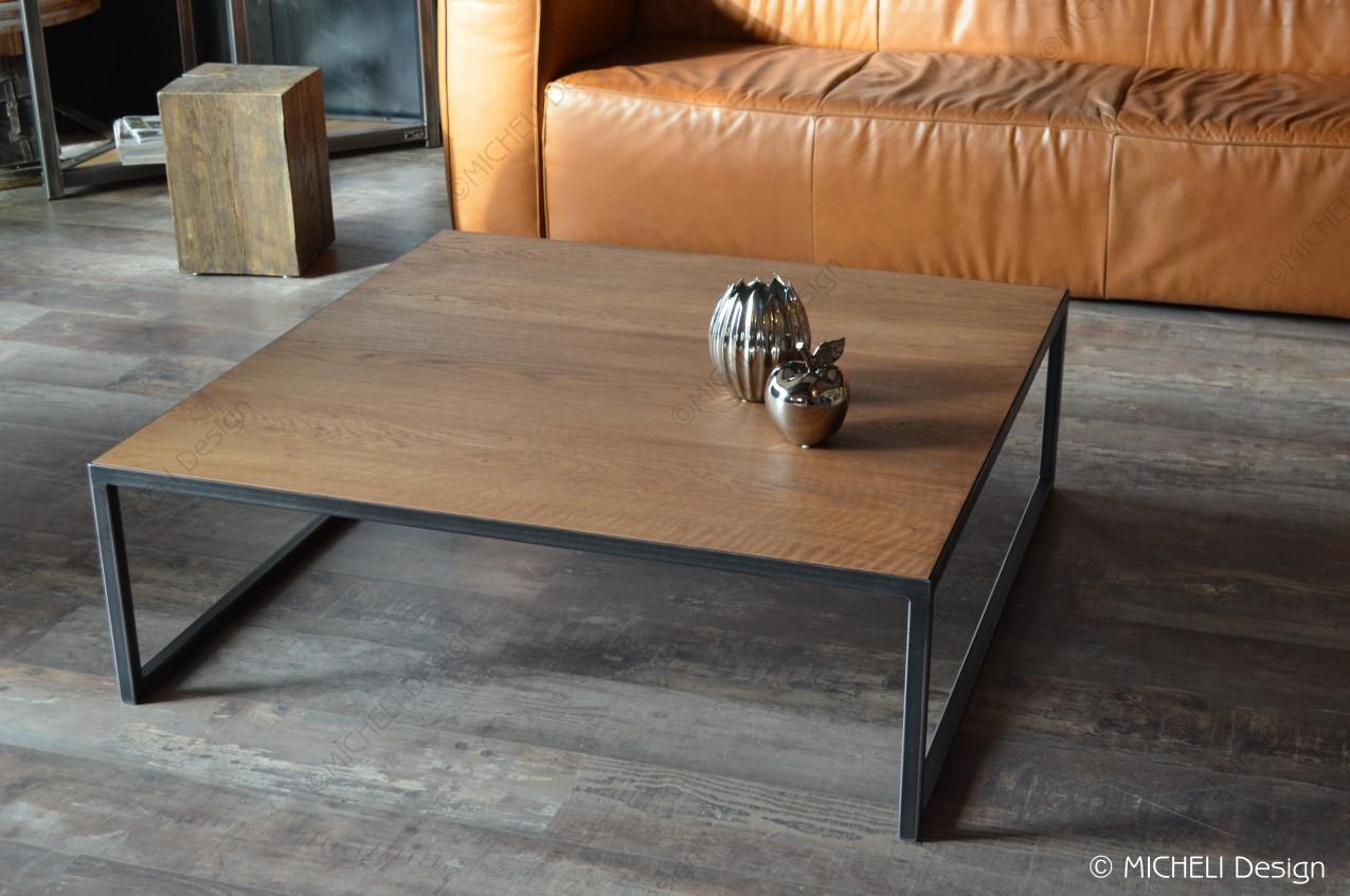 Table Carrée Contemporaine Basse Mesure Sur Bébryce qzUMSpVG