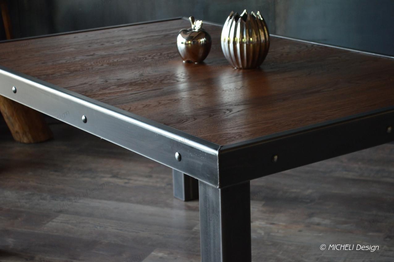 Fabriquer Une Table Haute En Bois table style industriel en bois et métal alpos - fabrication