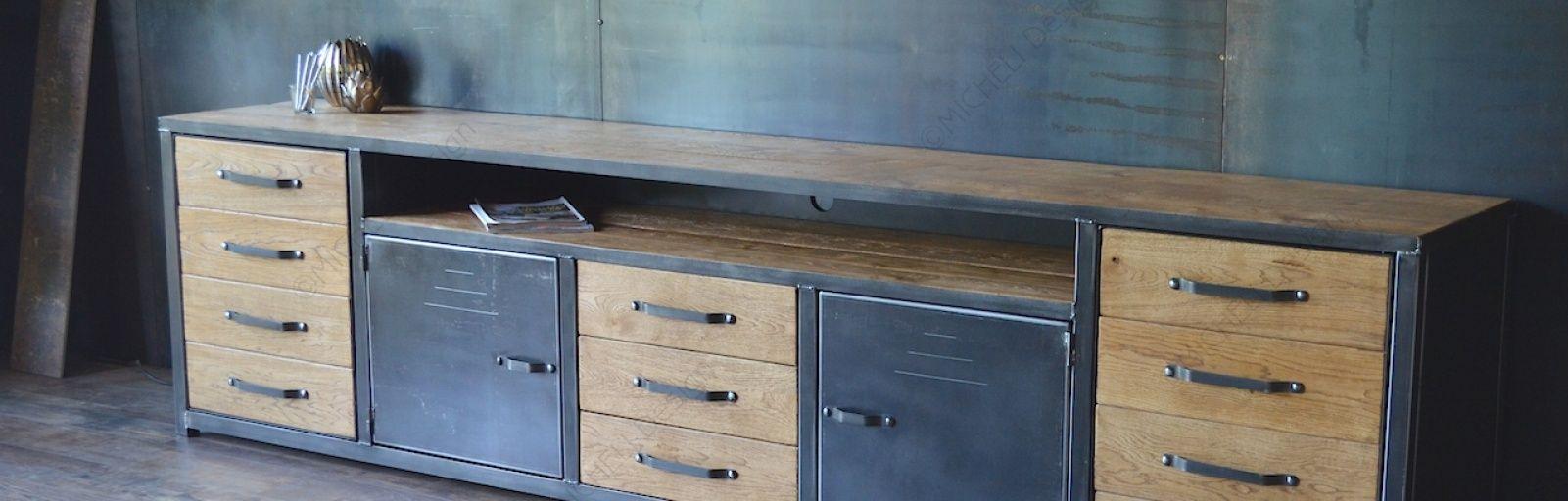 MICHELI DESIGN, tables et meubles de style industriel
